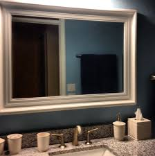 Bathroom Framed Mirrors Big White Framed Mirror Home Design Ideas