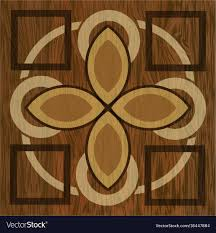 Wood Inlay Patterns Awesome Wooden Inlay Light And Dark Wood Patterns Wooden Vector Image