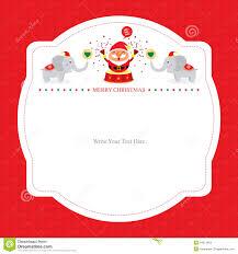 Christmas Card Template With Santa Claus Stock Vector