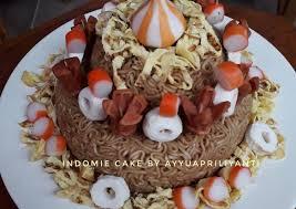 Resep Mie Goreng Cake Indomie Cake Oleh Ayyu Apriliyanti Cookpad