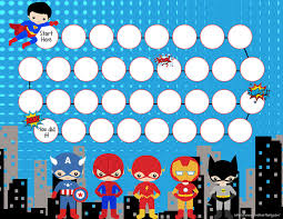 Chore Sticker Chart Printable Chore Reward Charts Princesses And Super Heroes Potty