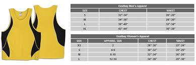 Eastbay Size Chart 2019 Online Registration Form