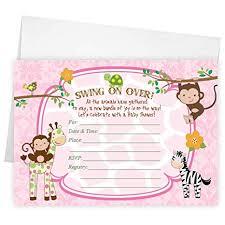 Baby Shower Invitation Cards Amazon Com Fill In The Blank Baby Shower Invitations Zebra