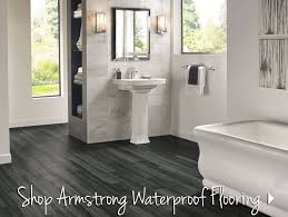 kitchens bathrooms mudrooms and basements are all areas that can be exposed to water all can be outfitted with beautiful durable flooring that s