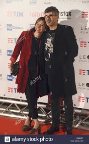 Rome Italy 12 February 2018 Cinema Moderno - Photocall preview A Casa Tutti  Bene, guest Paolo Genovese whit his wife Federica Credit: Giuseppe Andider  Stock Photo - Alamy