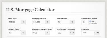Usmortgage Calculator Mortgage Calculator Form From Us Mortgage Calculator Patterntap