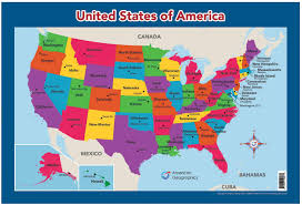 United States Wall/Desk Map ...