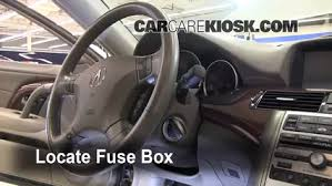 interior fuse box location acura rl acura rl l v locate interior fuse box and remove cover