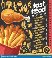 Restaurant Menu Creator Fast Food Restaurant Menu Design With French Fries And Fried
