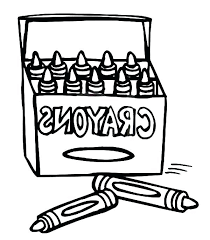 Crayon Box Coloring Pages Color Page Of Crayons Colouring Pencil And