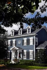 exterior paint colors for colonial style house. new england colonial blue exterior, inspiration for front door portico on our teeny version of exterior paint colors style house s