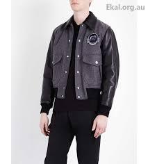 men s coats jackets givenchy grey black harrington jackets monkey appliqué wool blend