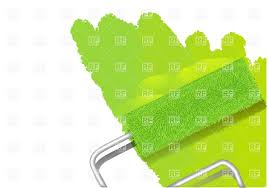 paint roller painting wall in lime green color vector image vector artwork of objects to zoom
