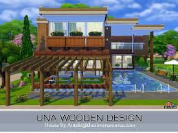 Small Picture Sims 4 Una Wooden Design house