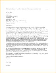 Interior Design Cover Letter Sample Psoriasisguru Com