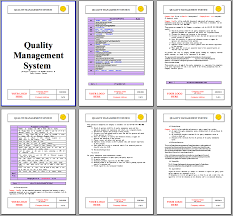 Free Quality Manual Template Download Choice Image - Template Design ...