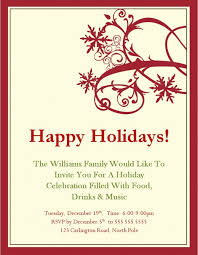 Party Invitation Template Word Free Inspiring Holiday Invitation Templates Free Pictures