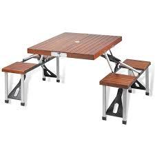 aluminum picnic tables. Foldable Wood \u0026 Aluminum Picnic Tables With Seats