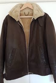 mens leather er jacket from river island with fake fur lining size large