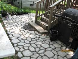 how to make patio stone path pathmate concrete stepping mold backyard ideas diy