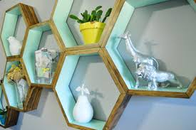 diy honeycomb shelves decor spray painted finds
