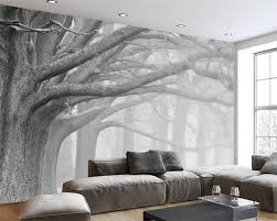 Us 90 40 Offbeibehang Zwart Wit Forest Tree Art Achtergrond Muur Schilderen Decoratie 3d Behang Slaapkamer Woonkamer Behang Muurschilderingen In