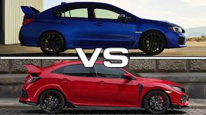 2018 subaru type ra. interesting 2018 2018 subaru wrx sti vs honda civic type r with subaru type ra
