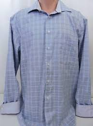 Egara Size Chart Mens Egara L S Shirt Large Purple Striped Non Iron Flip