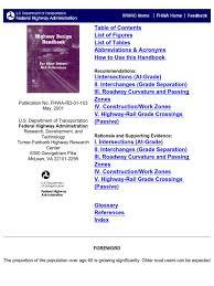 Highway Design Handbook for Older Drivers and Pedestrians | Traffic ...