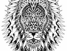 Small Picture Adult Coloring Pages Lion 4 For the top adult coloring books
