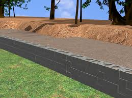 how to construct a block retaining wall