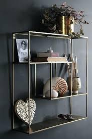 glass and brass wall shelving unit quadratic shelf from st new flat