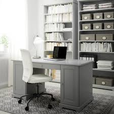 ikea office desks for home. Ikea Home Office Desk. A With Grey Desk, Bookcases And Swivel Chair Desks For