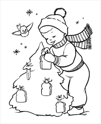 Small Picture 21 Christmas Coloring Pages Free PDF Vector EPS JPEG Format
