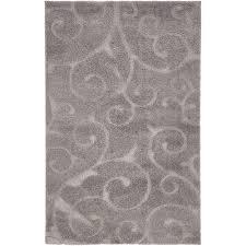 unique loom fl dark gray 5 x 8 rug