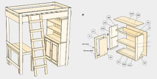 Free Bunk Bed Plans With Desk Captivating Free Loft Bed With Desk Plans