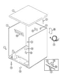 parts for crosley cdeazw dryer com 01 cabinet parts for crosley dryer cde6500azw from com