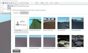 Roblox Create Create New Place Button In The Develop Page Website