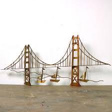 60s golden gate bridge metal sculpture mid century by spunkvtg 176 00 on golden gate bridge metal wall art with 60s golden gate bridge metal sculpture mid century modern brass