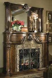 fake stone electric fireplace stacked heater mantel and