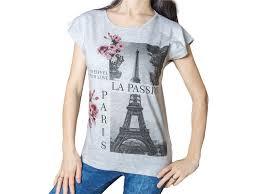 Dámské Tričko S Potiskem Paříž Eiffelova Věž