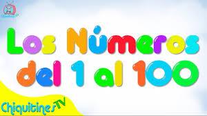 Resultado de imagen de los numeros del 1 al 100