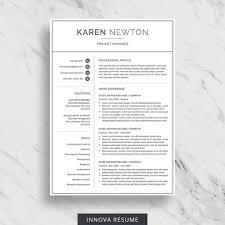 Naming A Resume Interesting Modern Resume Template For Word Minimalist Resume Design 48 Etsy