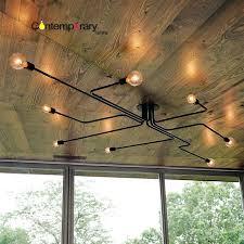 pipe light fixture black retro industrial loft ceiling lamp home decor conduit pipe light fixture for pipe light
