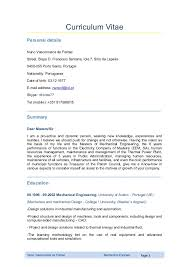 Mechanical Engineer Resume Impressive Mechanical Engineer Curriculum Vitae