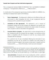 Non Com Agreement Template Lovely Sample 7 Documents In Word No ...