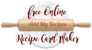 Free Recipe Card Maker Online Card Generator Add My Recipes