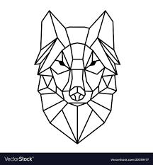 Modern Geometry Wolf Design Tattoo Image