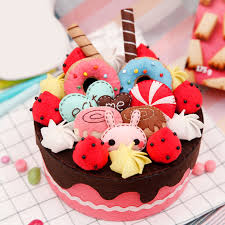 Diy Felt Cosmetic Organizer Small Storage Box Birthday Cake Style