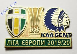 Match Badge Pin OLEKSANDRIA Olexandria - KAA GENT Belgium 2019 Europa  league